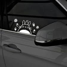 Totoro Car Decal Studio Ghibli Cute Pvc Sticker Waterproof Window Glass White Ebay
