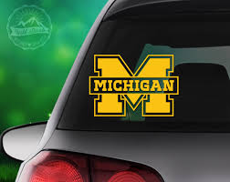Michigan Decal University Of Michigan Decal Michigan Car Etsy