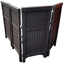 Amazon Com Outdoor Garden Panel Garbage Enclosure Lawn Fence Privacy Corner Yard Fences Sheds Porch Panels Patio Screens Fencing Dividers Set Of Four E Book Home Improvement