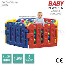 Baby Playpen Toddler Child Kids Play Pen Plastic Pit Fence Outdoor Fun Simply Homeware