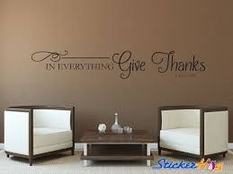In Everything Give Thanks Wall Quote Vinyl Graphics For Home Decor
