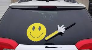 Amazon Com Wipertags Have A Nice Day Smiley Face Waving With Decal Attaches To Rear Vehicle Wiper Automotive