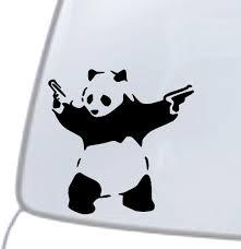 Panda With Guns Vinyl Decal Sticker Car Window Wall Bumper Macbook Banksy Art For Sale Online
