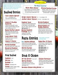 Estes Lobster House Menu (With images ...