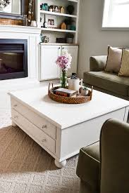 large square coffee table makeover my