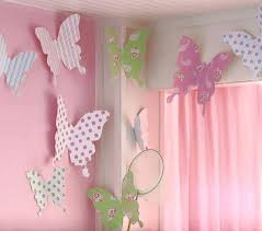 Toddler Room Decorating Ideas Paper Butterfly Diy Paper Butterfly Butterfly Wall Decor