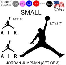 Amazon Com Set Nba Jordan 23 Air Jumpman Logo Huge Flight Vinyl Decal Sticker Car Window Laptop Wall Mac Small White Arts Crafts Sewing
