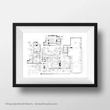 charlie harper home floor plan poster