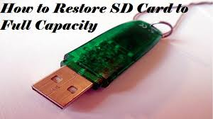 reclaim full capacity on sd card