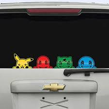 4 Pack Kanto Pokemon Peeking Back Window Decal Anime Sticker Phone Pikachu Bulbasaur Squirtle Pikachu Amazon Ca Home Kitchen