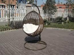 pe rattan swing chair garden