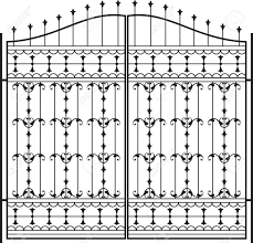 Wrought Iron Gate Door Fence Window Grill Railing Design Royalty Free Cliparts Vectors And Stock Illustration Image 31973680