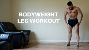 leg workout for men without weights