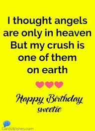 birthday wishes for crush cards wishes
