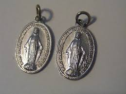2pc vintage miraculous virgin mary 7 8