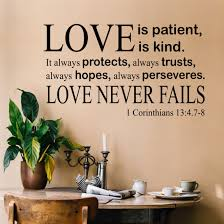 Christian Wall Decal Love Is Patient Religious Verse
