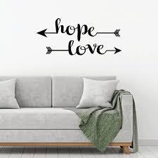 Inspirational Wall Decal Hope Vinyl Decor Wall Decal Customvinyldecor Com