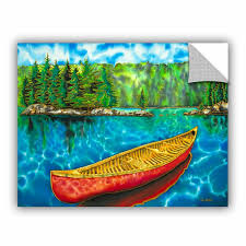 Artwall Daniel Jean Baptiste Algonquin Park Canada Red Canoe Wall Decal Wayfair