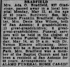 Ada Turner Bradfield - Newspapers.com