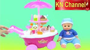 Đồ chơi trẻ em KN Channel | Bé Na & XE KEM 2 TẦNG Ice Cream Shop ...