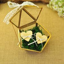 ring box custom name glass jewelry box