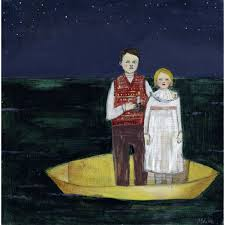 Ivy and Parker drifted through black seas with only candlelight to guide  them original painting by