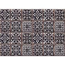 Wall Pops Black Tiles Azulejos Kitchen Panel Wall Decal Cr 67253 The Home Depot