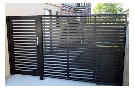 Clik N Fit Colorbond Steel Side Fence Including Gate Backyard Fences Modern Fence Fence Design