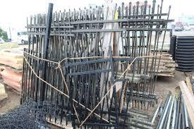 Wrought Iron Fencing Panels Gates Posts Shakopee Surplus Landscaping Materials Sale K Bid