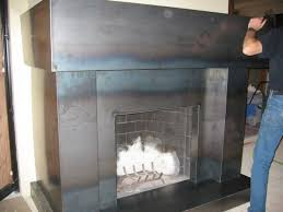 metal fireplace