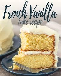 moist french vanilla cake recipe from