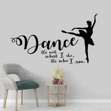 Dance Wall Art Decals For Girls Room Ballet Ballerina Silhouette Wall Stickers Quote Vinyl Decal Mural Princess Room Decor G889 Buy At The Price Of 6 01 In Aliexpress Com Imall Com