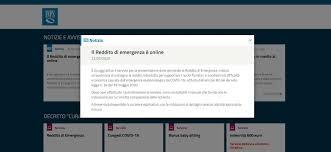 Reddito di Emergenza, sul sito INPS da adesso si può richiederlo