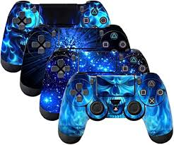 Amazon Com Subclap 4 Packs Ps4 Controller Skin Vinyl Decal Sticker Cover For Sony Playstation 4 Dualshock 4 Wireless Controller Shing Blue Computers Accessories