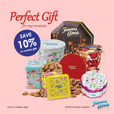 famous amos cookies gift 10 off