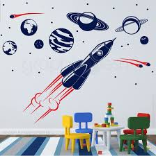 Adventure In Space Solar System Spaceship Wall Decals Space Wall Decals Wall Decals Kids Room Wall Decals