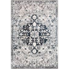aqua navy white oriental area rug