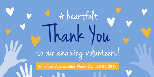 a heartfelt thank you to our volunteers united way of central