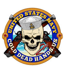 Cold Dead Hands Skull Crossed Pistols Us Navy Vinyl Decal