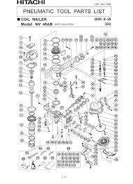 hitachi nv45ab parts coil nailer