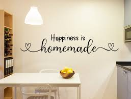 Happiness Is Homemade Kitchen Decal Kitchen Quotes Kitchen Wall Decal Farmhouse Kitchen