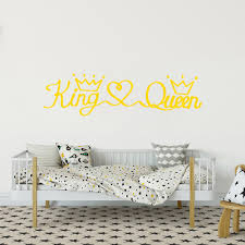 Romantic King Queen Frase Vinyl Wall Decal For Bedroom Decor Wall Sticker Wallsticker Baby Room Stickers Pvc Mural Art Stickers For Walls Art Wall Decal From Onlinegame 11 94 Dhgate Com