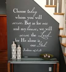 Chose Whom You Will Serve Wall Decal Trading Phrases