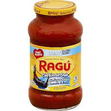 ragu sauce no sugar tomato basil