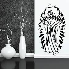The Virgin Mary With Roses Decal