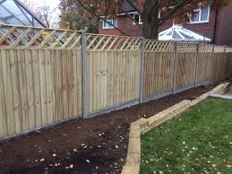 Featheredge Fence Panels On Concrete Posts J Hubbard Son Ltd
