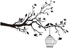 Black Birds Tree Branches Removable Vinyl Art Wall Sticker Home Room Decal Decor