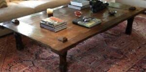 coffee table rustic oversized bali