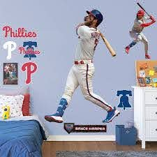 Philadelphia Phillies Bryce Harper Fathead 11 Pack Life Size Removable Wall Decal