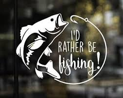 Fishing Window Decal Etsy